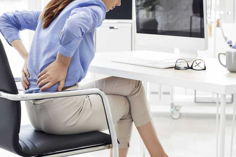 back pain due to poor posture
