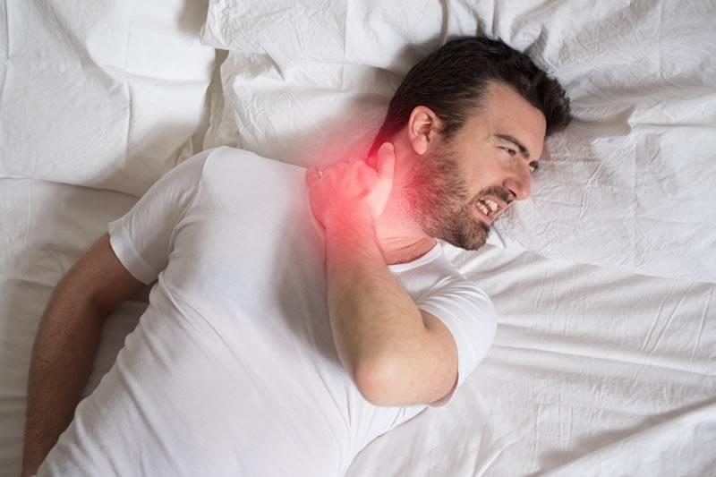Stiff neck after sleeping