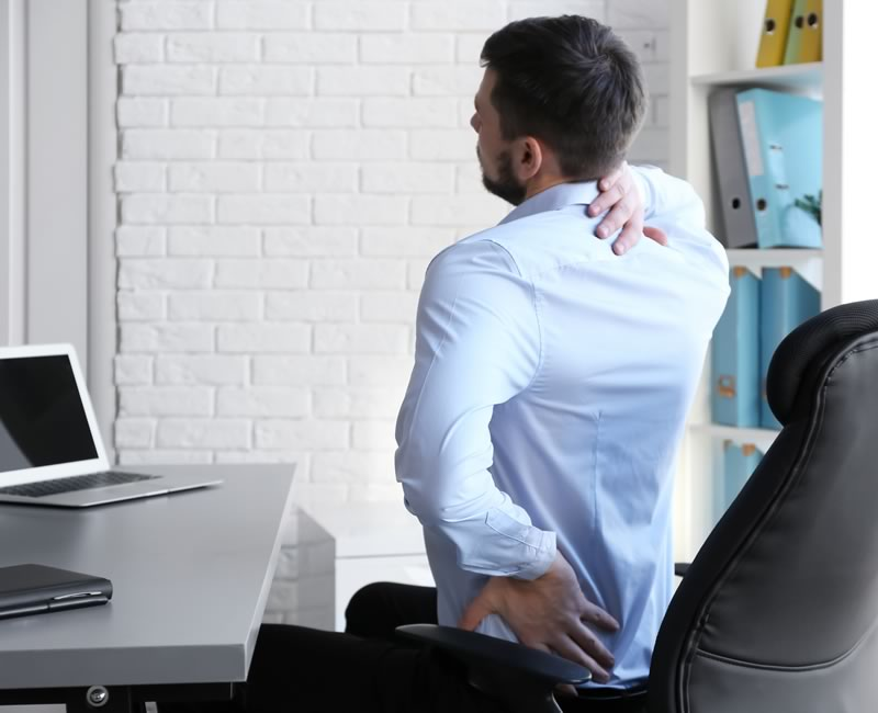 poor posture causing back and neck pain
